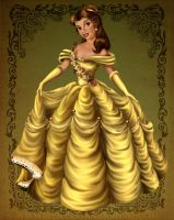 Princess Coloring Book - Belle by bloona