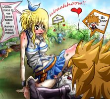 Loki and Lucy Como rayos... by Zhyrhe