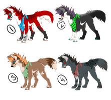 [CLOSED] Punk Dog Adoptables by ScarSparrow