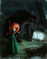 coloring book page - Merida and queen elinor by naima
