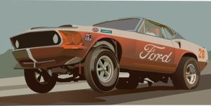Vintage Drag Car II by Rikko40