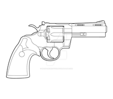 Colt Phyton Lineart by MasterChiefFox