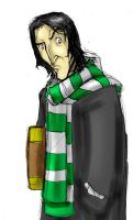 Snape with book and scarf by Erikonil