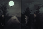 Dyptych: vampires meeting by black-cat16