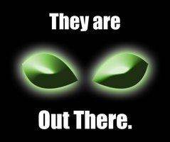 They Are Out There Mousepad by Vash-Crowley