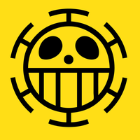 One Piece Trafalgar Law Flag Emblem by elsid37