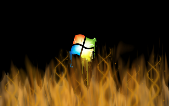 win7 in flames by ishaque87