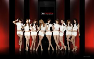 SNSD Wallpaper Chocolate Love by kroszbonezy09