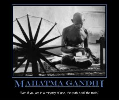 Gandhi Motivational Poster by organicjerk