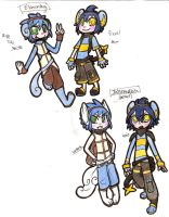 Wartortle and Luxio evolutions by StarryMidnightSky