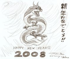 Happy New Year 2008 by ryuuseipro