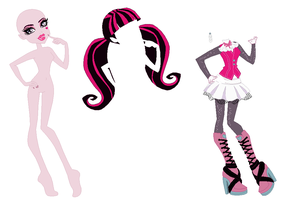 Monster High Draculaura Base by SelenaEde