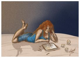 Sketching Clary is Sketching by jeminabox