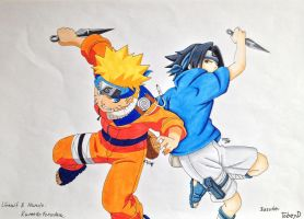 Collab Naruto And Sasuke COPIC by TobeyD