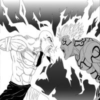 Kratos Vs Asura by THEPRODIGYP5ART