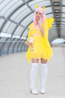 Flutteshy and Angel Bunny by Saru-Cosplay