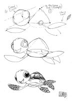 Draw Squirt the Sea Turtle by Diana-Huang