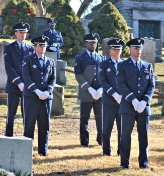 Air Force Funeral at Sleepy Hollow Cemetery by BellonaRose