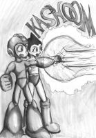 Megaman and Astro Boy by Fragraham