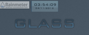 Glass (Clock/Date for Rainmeter) by v1k0s