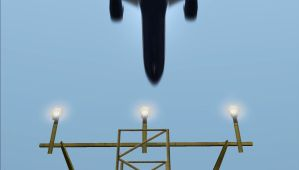 Over the approach lights by Boeing787