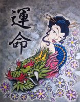 Dragon and Geisha by Ta2dsoul