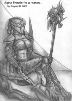 Alpha Female Predator by guyver47