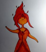 Flame Princess Adventure Time by DarkMatterFreak
