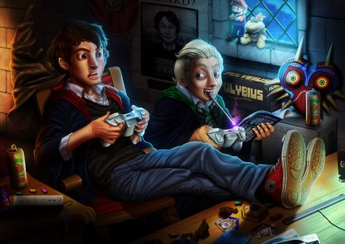 Hogwarts 2011: the gamers by Dogsfather