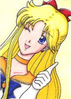 Sailor Venus ACEO by sweetangelookami