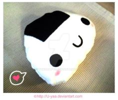 Onigiri pillow by TokiCrafts