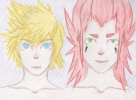 Roxas and Axel by OMGBOYS