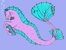 Hippocampus 2 (colored) by Momtat31
