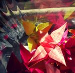 Origami Orchids by peppermint-ambi
