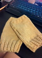 Fingerless glove (Camel) by LBhouse