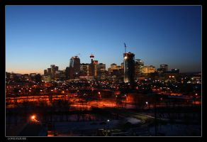 Calgary After Sunset by lovelylouise