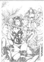 Psylocke and Elektra by Leomatos2014