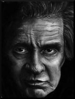 Johnny Cash Portrait by missperple