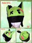 Zombie Aviator Kitty Hat by AnimeNomNoms