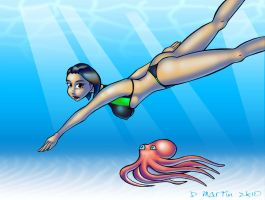 Swimming with the Octopi by penguin-commando