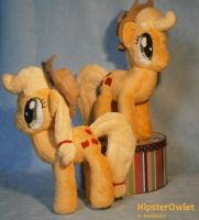 Applejack Plushie Twins by HipsterOwlet