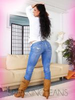 Eve in Jeans and Boots 2 by SpankingJeans