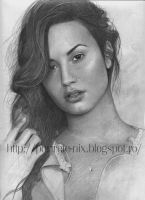 demi lovato portrait by shtrumphX