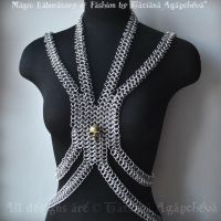 CHAINMAILLE Fashion Bib Harness Runway Collection by TianaChe