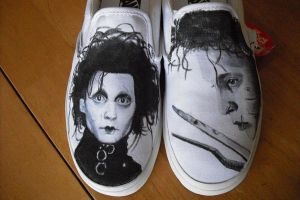edward scissor hands shoes by mattcoryart