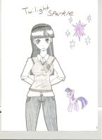 Twilight Sparkle humanized by avirextin