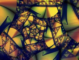 cubist spiral by Dharini