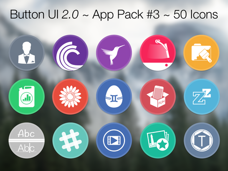 Button UI 2.0 ~ App Pack #3 by BlackVariant