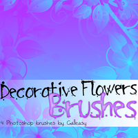 decorative flowers by Galleasy