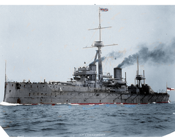 HMS Dreadnought in color (Fixed) by Pudgemountain